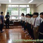 中学部活動主将・部長認証式 9月28日(木)