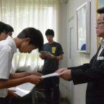 高校運動部主将・副主将の認証式