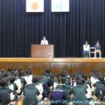中学生徒会長立会演説会・投票 1月21日(月)