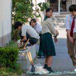 中学生徒会 花壇整備完了 2月13日(水)