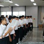 中学1年生 合唱練習のようす 8月28日(水)