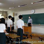 高校体育部新主将・副主将認証式 7月1日(水)
